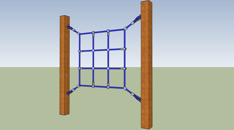Angled or Vertical Climbing Net