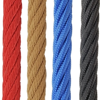 Playground rope - steel cable/poly composite